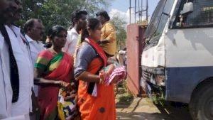 விழாக்கோலம் பூண்ட வேட்புமனுத்தாக்கல்:திருச்சி திருவெறும்பூரில் கோலாகலம்: