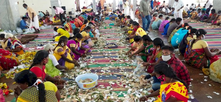 திருச்சி சமயபுரத்தில் 72.70 லட்சம் உண்டியல் காணிக்கை!!