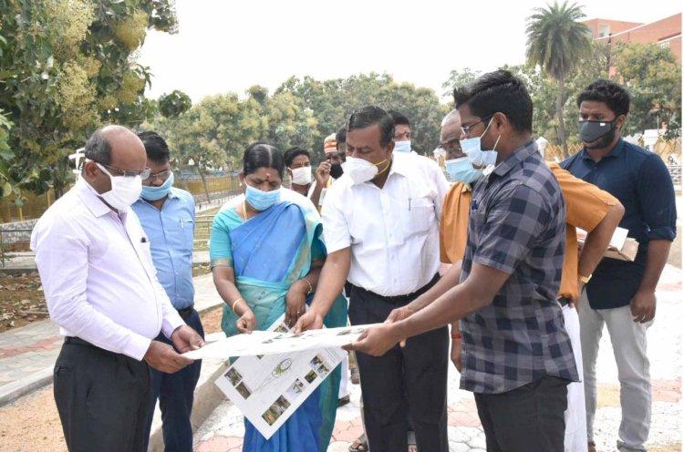 ஸ்மார்ட் சிட்டி திட்ட பணிகளை மாவட்ட ஆட்சியர்  ஆய்வுமேற்கொண்டார்