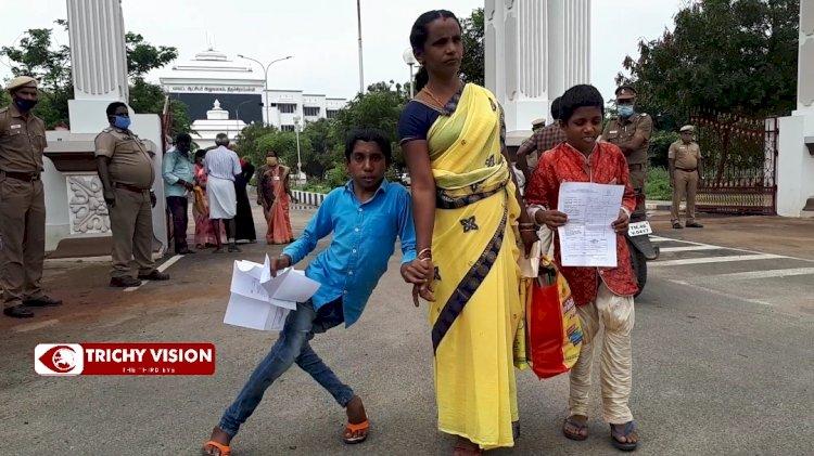 5 முறை பெட்டியில் போட்ட மனு -  காத்திருக்கும் மாற்றுத்திறனாளி மாணவன்!!