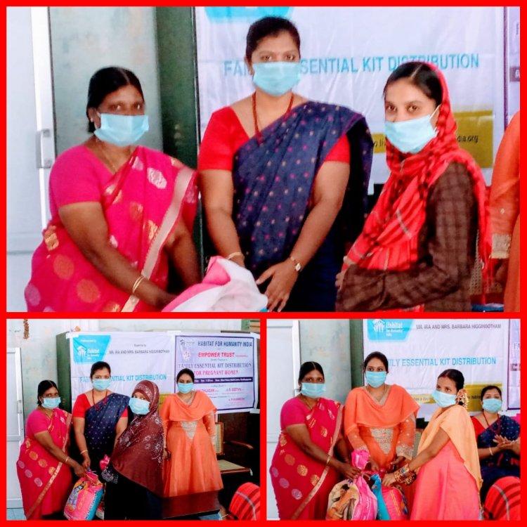 திருச்சி எம்பவர் டிரஸ்ட் மற்றும் ஹேபிடாட் பார் ஹீமானிட்டி இந்தியா இணைந்து கர்ப்பிணி பெண்கள் குடும்பத்திற்கு உதவி