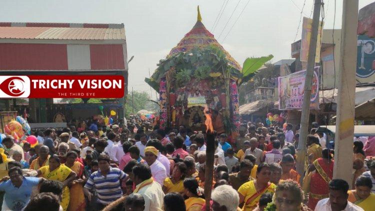 சமயபுரம் அருள்மிகு ஆதி மாரியம்மன் கோயிலில் மாசித் தேரோட்டம்